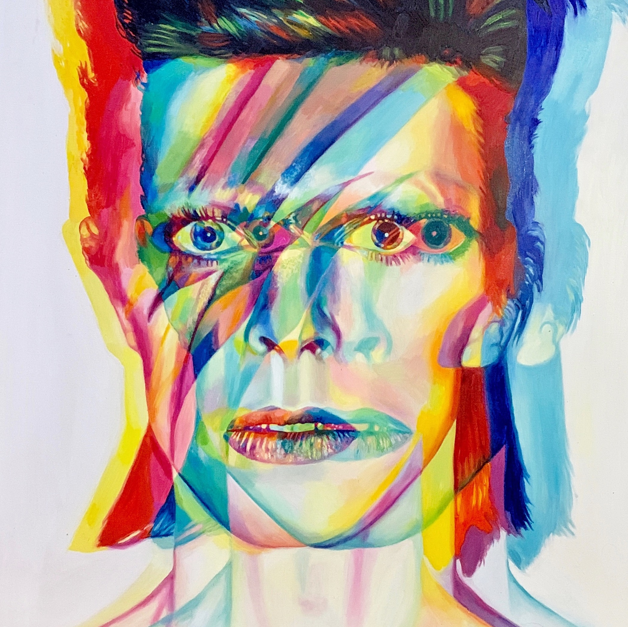 """Starman. 48"""" x 48"""". oil on canvas. 2018. available for purchase."""