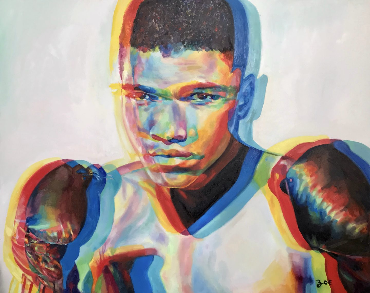 """Ali. 48"""" x 60"""". oil on canvas. 2018. SOLD."""