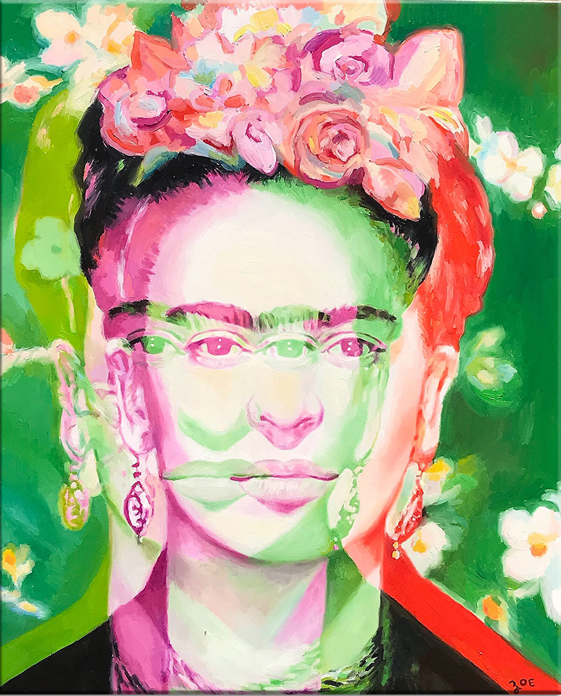 """Frida. 24"""" x 30"""". oil on canvas. 2018. SOLD"""